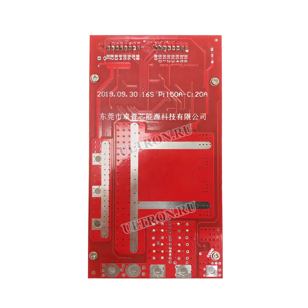 BMS-плата 60V для АКБ 16S (P: 150A — C: 20A)